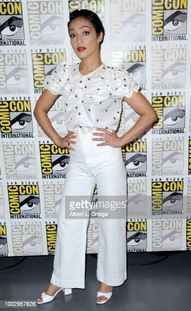 Ruth Negga at AMC's Preacher panel during ComicCon International 2018 at San Diego Convention Center on July 20 2018 in San Diego California