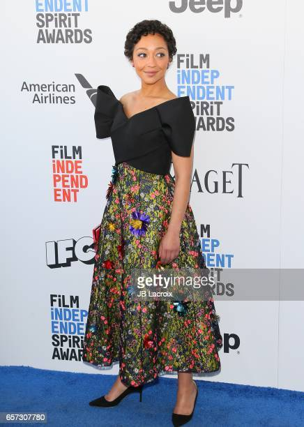 Ruth Negga attends the 2017 Film Independent Spirit Awards on February 25 2017 in Santa Monica California