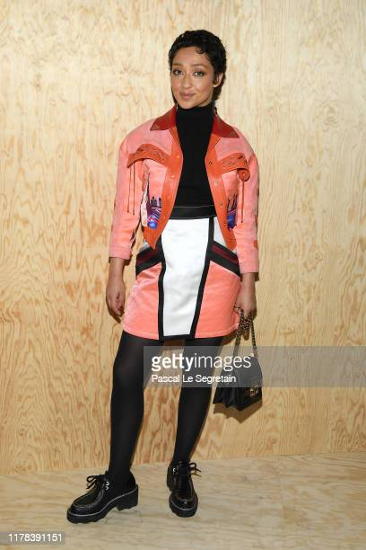 Ruth Negga attends the Louis Vuitton Womenswear Spring/Summer 2020 show as part of Paris Fashion Week on October 01 2019 in Paris France