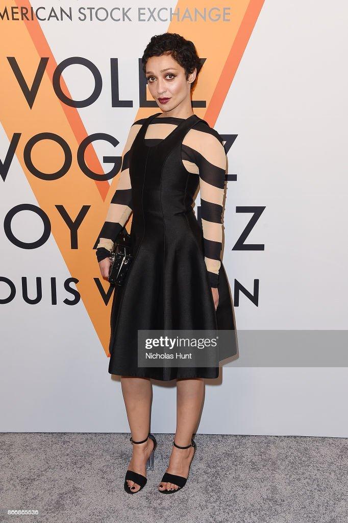 Ruth Negga attends the Volez, Vogez, Voyagez - Louis Vuitton Exhibition Opening on October 26, 2017 in New York City.