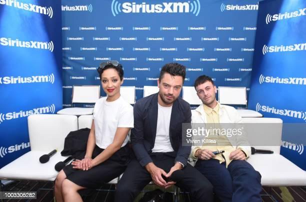 Ruth Negga Dominic Cooper and Joseph Gilgun SiriusXM's Entertainment Weekly Radio Broadcasts Live From Comic Con in San Diego at Hard Rock Hotel San...