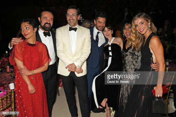 Ruth Negga Evgeny Lebedev Jon Hamm Dominic Cooper Ophelia Lovibond Dame Shirley Bassey and Annabelle Wallis attend the London Evening Standard...