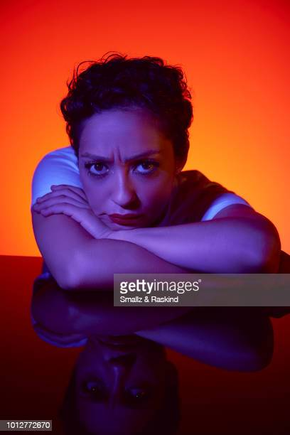 Ruth Negga from 'Preacher' poses for a portrait at the Getty Images Portrait Studio powered by Pizza Hut at San Diego 2018 Comic Con at Andaz San...