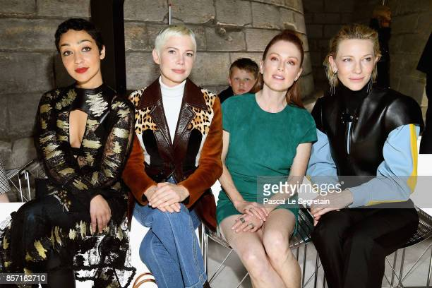 Ruth Negga Michelle Williams Julianne Moore and Cate Blanchett attend the Louis Vuitton show as part of the Paris Fashion Week Womenswear...