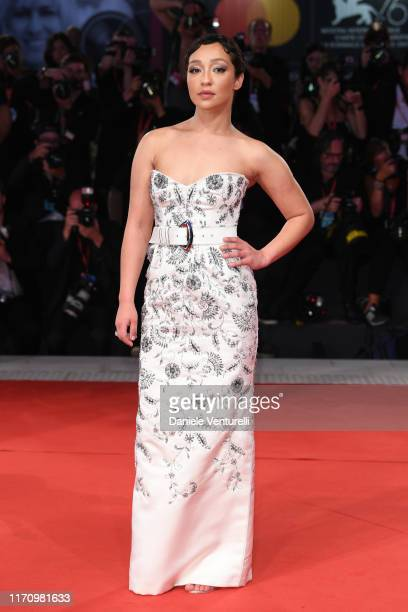 Ruth Negga walks the red carpet ahead of the Ad Astra screening during during the 76th Venice Film Festival at Sala Grande on August 29 2019 in...
