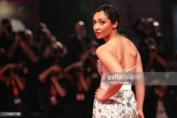 Ruth Negga walks the red carpet ahead of the Ad Astra screening during the 76th Venice Film Festival at Sala Grande on August 29 2019 in Venice Italy