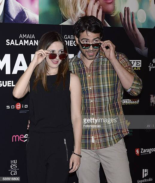 Ruth Nunez and Alejandro Tous attend the 'Nuestros Amantes' premiere at Palafox cinema on May 30 2016 in Madrid Spain