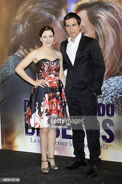 Ruth Nunez and Alejandro Tous attend the 'Por Un Punado de Besos' premiere at Callao Cinema on May 14 2014 in Madrid Spain
