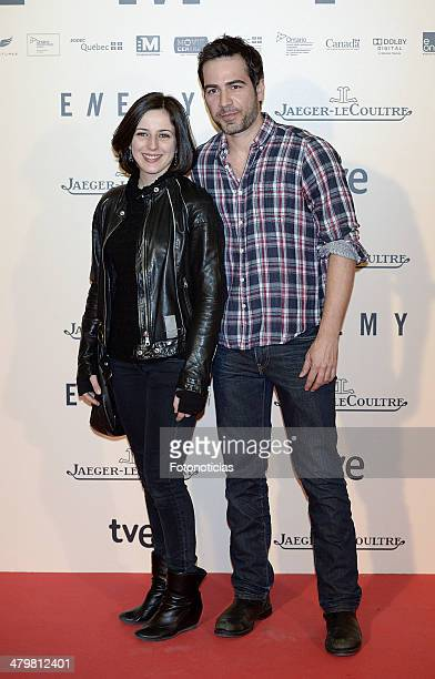 Ruth Nunez and Alejandro Tous attend the premiere of 'Enemy' at Palafox Cinema on March 20 2014 in Madrid Spain