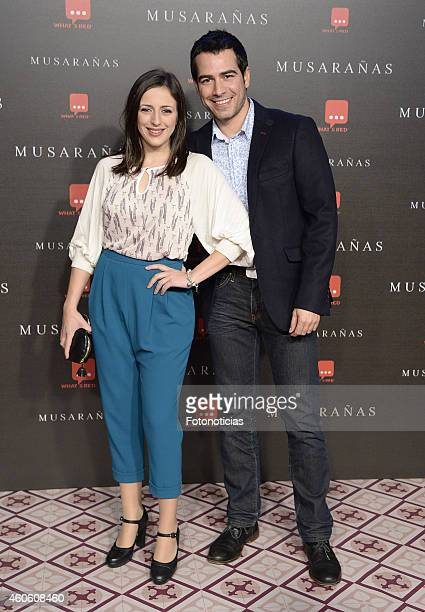 Ruth Nunez and Alejandro Tous attends the 'Musaranas' Premiere at the Capitol Cinema on December 17 2014 in Madrid Spain