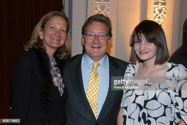 Ruth Pack Jay Pack and Lucy Pack attend CURTAIN UP Celebrating SARAH LAWRENCE COLLEGE Retiring President MICHELE MYERS at The Hudson Theatre on April...