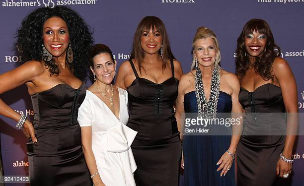 Ruth Pointer Alexandra Leventhal Anita Pointer Princess Yasmin Aga Khan and Issa Pointer attend the 2009 Alzheimer's Association Rita Hayworth Gala...