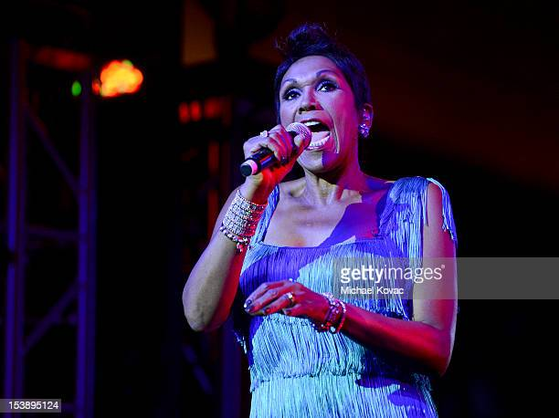 Ruth Pointer of The Pointer Sisters performs at City Of Hope Honors Halston CEO Ben Malka With Spirit Of Life Award at Exchange LA on October 10 2012...
