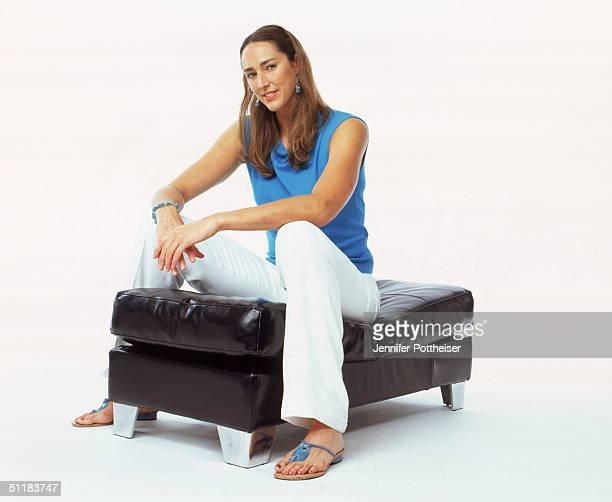 Ruth Riley of the Detroit Shock poses for a WNBA Portrait at Westin Hotel on August 4 2004 in New York New York NOTE TO USER User expressly...