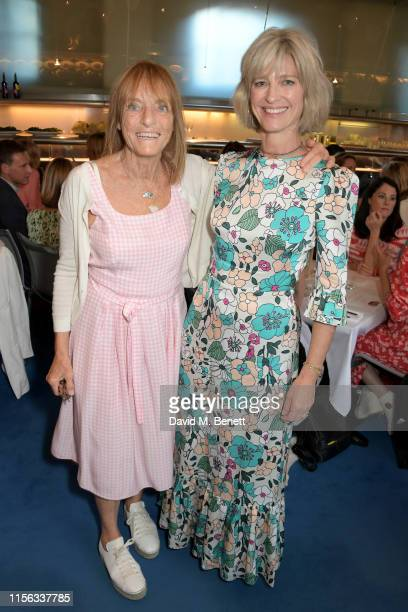 Ruth Rogers and Nicola Formby attend The Sunday Times AA Gill Award for emerging food critics at The River Cafe on June 16, 2019 in London, England.
