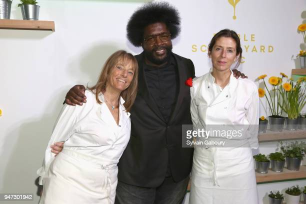 Ruth Rogers Questlove and Sian Wyn Owen attend Edible Schoolyard NYC 2018 Spring Benefit at 180 Maiden Lane on April 16 2018 in New York City