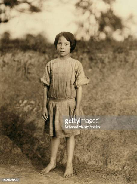 Ruth Rous said she was 11 years old but others said she is not yet 10 Fulllength Portrait Works at Deep River Cotton Mills Randleman North Carolina...