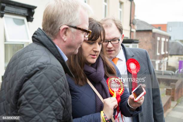 Ruth Smeeth Labour Mp for Stoke on Trent North campaigns with Gareth Snell the Labour candidate for the Stoke on Trent Central By election on...