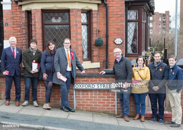 Ruth Smeeth Labour Mp for Stoke on Trent North John Cryer Labour MP for Leyton and Wanstead Ian Austin MP for Dudley North campaigning with Gareth...