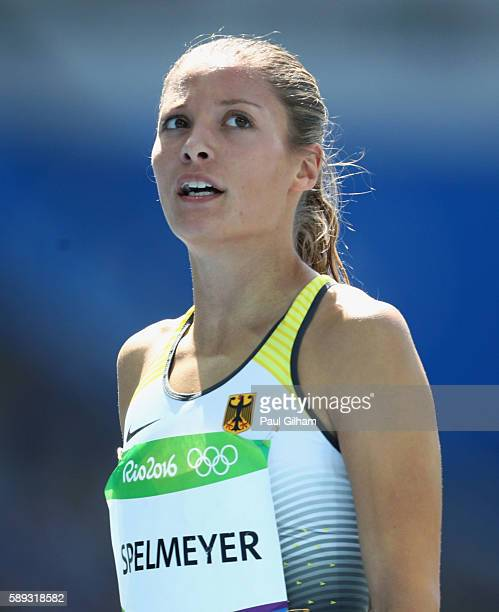 Ruth Sophia Spelmeyer of Germany competes in round one of the Women's 400m on Day 8 of the Rio 2016 Olympic Games at the Olympic Stadium on August 13...