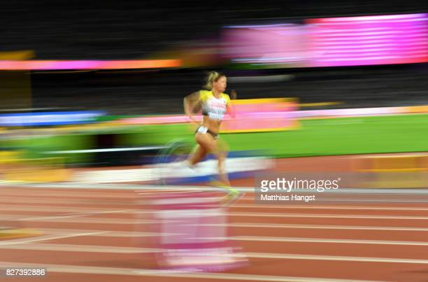 Ruth Sophia Spelmeyer of Germany competes in the Women's 400 metres semi finals during day four of the 16th IAAF World Athletics Championships London...