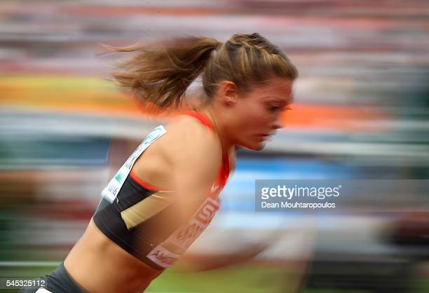 Ruth Sophia Spelmeyer of Germany in action during her 400m semi final on day two of The 23rd European Athletics Championships at Olympic Stadium on...