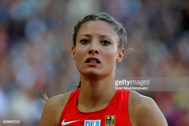 Ruth Sophia Spelmeyer of Germany looks on after competing in the Women's 4x400 metres relay heats during day five of the 22nd European Athletics...