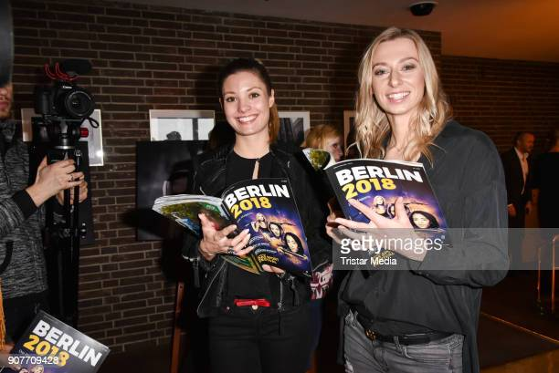 Ruth Spelmeyer and Lisa Ryzih during the BERLIN2018 Magazin ReleaseParty on January 19 2018 in Berlin Germany