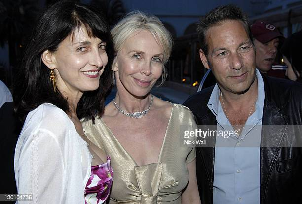 """Ruth Vitale, Trudie Styler and Henry Winterstern during 2006 Cannes Film Festival - """"A Guide To Recognizing Your Saints"""" Dinner in Cannes, France."""