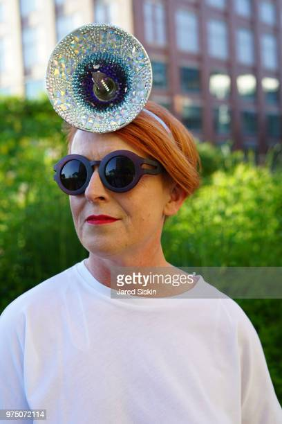 Ruth Walker attends the 2018 High Line Hat Party at the The High Line on June 14 2018 in New York City