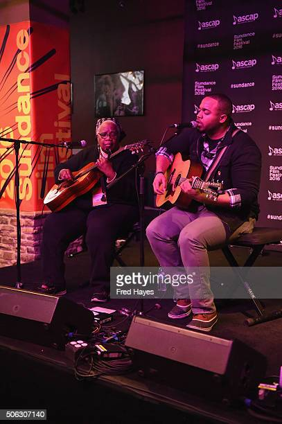 Ruth Ward and Madisen Ward of Madisen Ward and the Mama Bear performs onstage at the ASCAP Music Cafe 2016 during the Sundance Film Festival at...