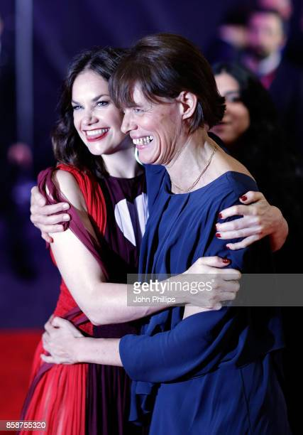 Ruth Wilson and Clio Barnard attend the Special Presentation European Premiere of 'Dark River' during the 61st BFI London Film Festival on October 7...