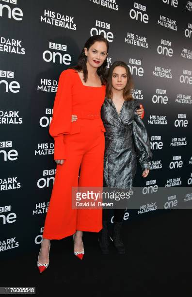 Ruth Wilson and Dafne Keen attend the Global Premiere of HBO and BBC's His Dark Materials at BFI Southbank on October 15 2019 in London England
