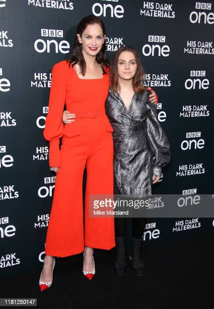 Ruth Wilson and Dafne Keen attend the His Dark Materials premiere at BFI Southbank on October 15 2019 in London England