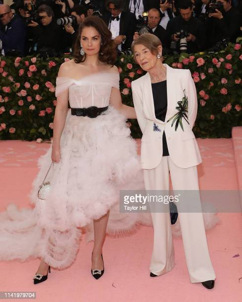 Ruth Wilson and Glenda Jackson attend the 2019 Met Gala celebrating Camp Notes on Fashion at The Metropolitan Museum of Art on May 6 2019 in New York...