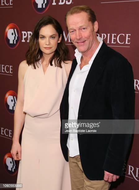 Ruth Wilson and Iain Glen attend the Masterpiece Photo Call on February 01, 2019 in Pasadena, California.