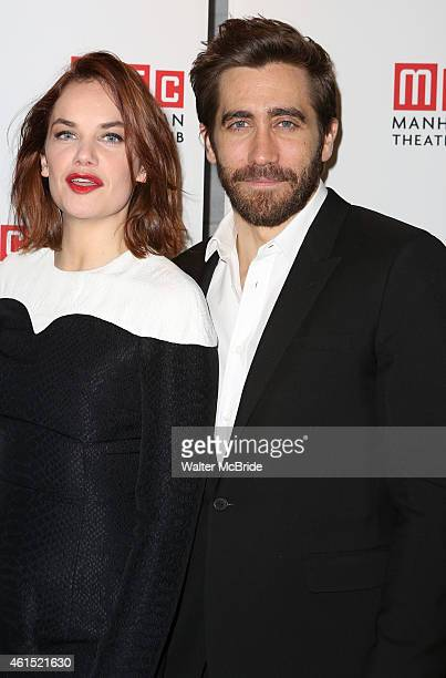 Ruth Wilson and Jake Gyllenhaal attend the Broadway Opening Night Performance Curtain Call for The Manhattan Theatre Club's production of...