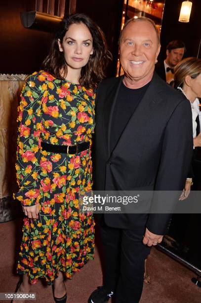 Ruth Wilson and Michael Kors attend the Michael Kors cocktail party to celebrate the collaboration with David Downton at Claridge's Hotel on October...
