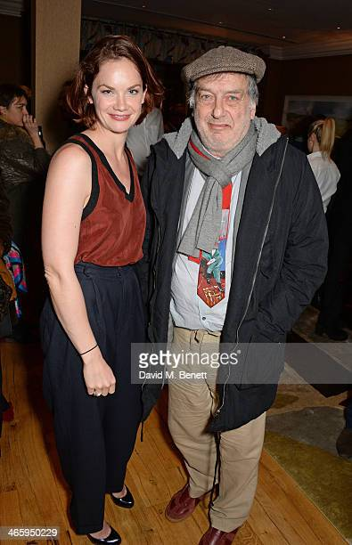Ruth Wilson and Stephen Frears attend a drinks reception and private screening of BAFTA and Oscar nominated film 'Philomena' hosted by Harvey...