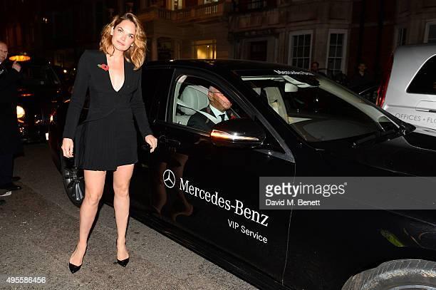 Ruth Wilson arrives at Harper's Bazaar Women Of The Year Awards at Claridge's Hotel on November 3 2015 in London England