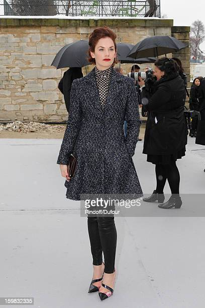 Ruth Wilson arrives to attend the Christian Dior Spring/Summer 2013 HauteCouture show as part of Paris Fashion Week at on January 21 2013 in Paris...
