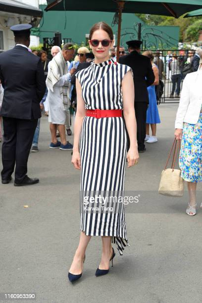 Ruth Wilson attends day eight of the Wimbledon Tennis Championships at All England Lawn Tennis and Croquet Club on July 09 2019 in London England