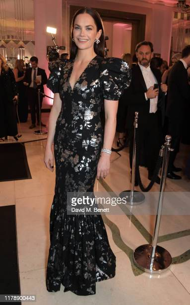 Ruth Wilson attends the Harper's Bazaar Women of the Year Awards 2019, in partnership with Armani Beauty, at Claridge's Hotel on October 29, 2019 in...