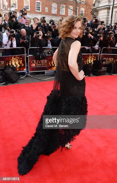 Ruth Wilson attends the Laurence Olivier Awards at The Royal Opera House on April 13 2014 in London England
