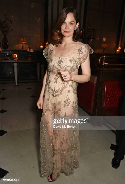 Ruth Wilson attends The Olivier Awards 2017 after party at Rosewood London on April 9 2017 in London England