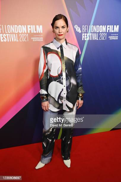 """Ruth Wilson attends the UK Premiere of """"True Things"""" during the 65th BFI London Film Festival at the BFI Southbank on October 10, 2021 in London,..."""