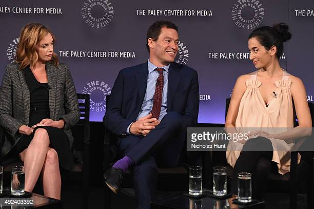 Ruth Wilson Dominic West and Sarah Treem attend the third annual PaleyFest NY at The Paley Center for Media on October 12 2015 in New York City