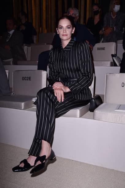 ITA: Giorgio Armani - Front Row - Milan Fashion Week - Spring / Summer 2022