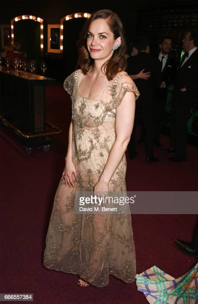 Ruth Wilson poses in the winners room at The Olivier Awards 2017 at Royal Albert Hall on April 9 2017 in London England