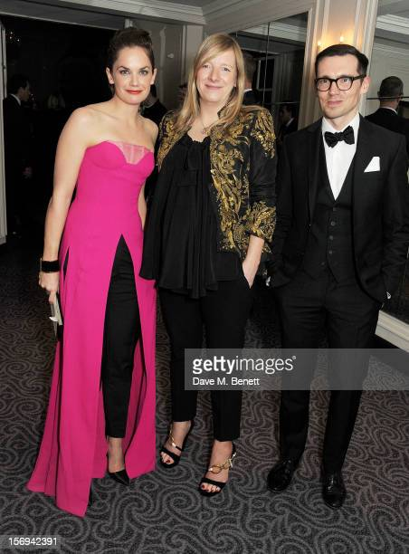 Ruth Wilson, Sarah Burton and Erdem Moralioglu attend a drinks reception at the 58th London Evening Standard Theatre Awards in association with...